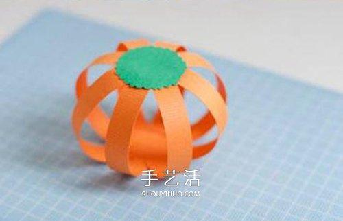 卡纸南瓜手工制作教程 也可以改造成灯笼!