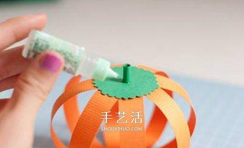 卡纸南瓜手工制作教程 也可以改造成灯笼! -  www.shouyihuo.com