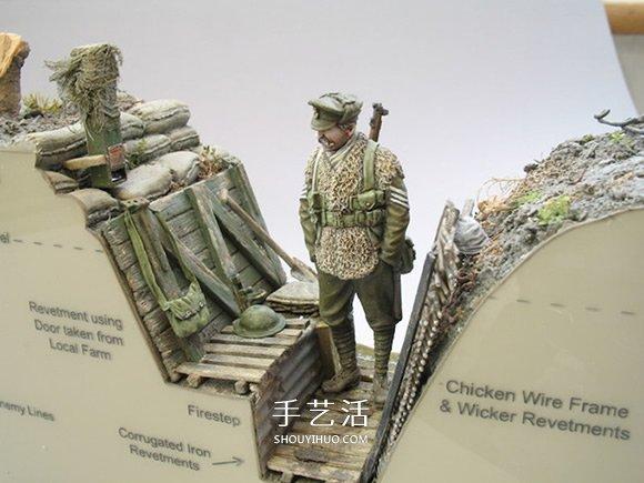 剖开炮火的残酷!第一次世界大战壕沟模型 -  www.shouyihuo.com
