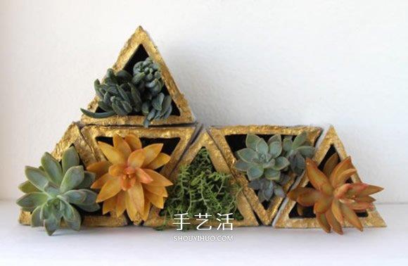 小制作 小手工 简单手工  用瓦楞纸做出花盆模型,并用胶带纸粘贴固定