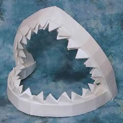 鲨鱼嘴的折纸方法图解 怎么折鲨鱼嘴步骤图