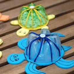 雪碧瓶手工制作小乌龟 雪碧瓶子做乌龟图解