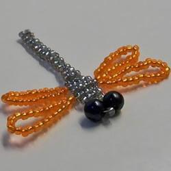 串珠蜻蜓的DIY方法 串珠手工制作蜻蜓图解