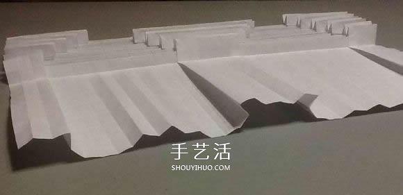 鲨鱼嘴的折纸方法图解 怎么折鲨鱼嘴步骤图(2)