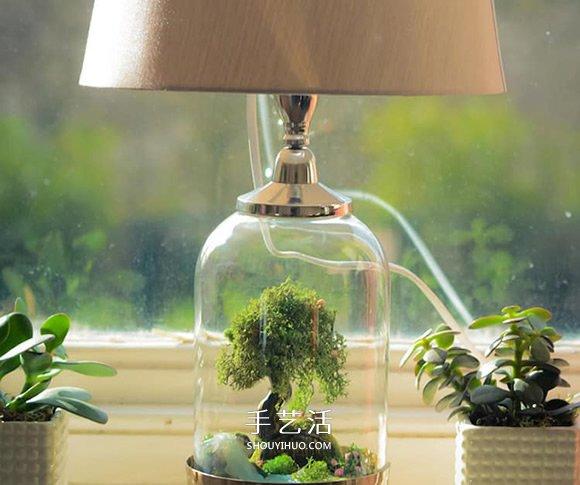 将灯具和童话场景结合!美丽玻璃罐台灯DIY -  www.shouyihuo.com