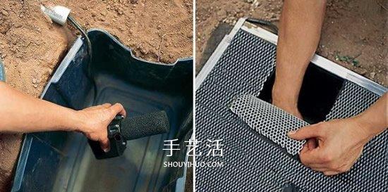 自制滴水喷泉的方法 花园滴水喷泉DIY图解 -  www.shouyihuo.com