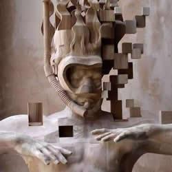 木头人像素化!传统木雕与数位元素的结合