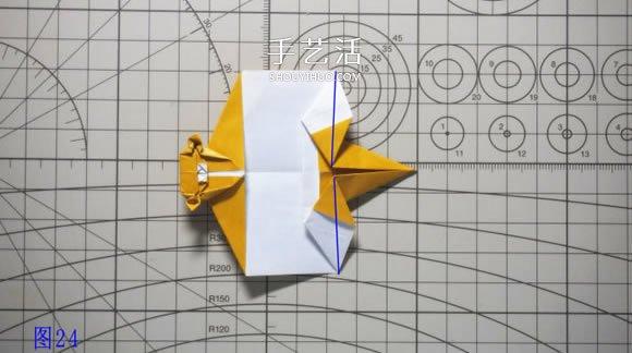 逼真的猴子折纸图解 手工折纸小猴子的折法(2)
