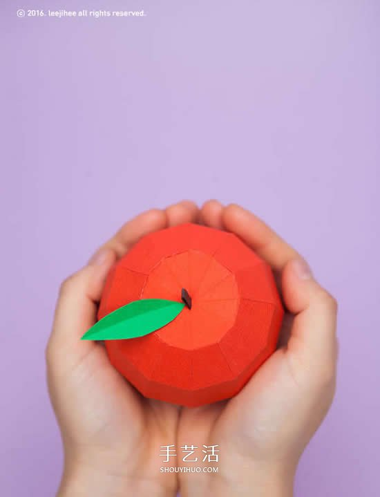 忍不住想亲手把玩!精致立体水果纸雕作品 -  www.shouyihuo.com