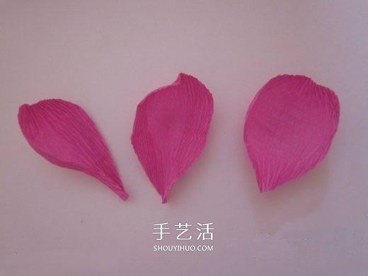 皱纹纸糖果花的做法 皱纹纸玫瑰花手工制作