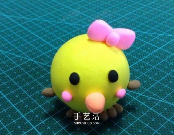超轻粘土制作小鸡图解 简单又可爱粘土小鸡DIY -  www.shouyihuo.com