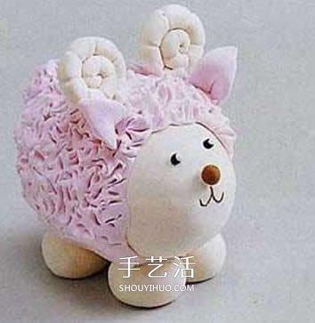 超轻粘土制作可爱的小绵羊,胖乎乎,粉粉哒,里面还藏了一只鸡蛋哟,快来