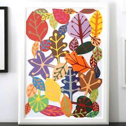 简单树叶装饰画制作 儿童卡纸树叶画的做法