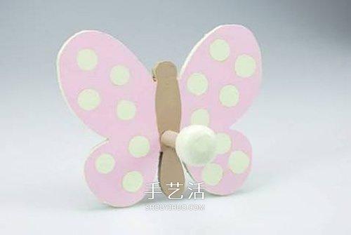 DIY蝴蝶挂衣钩的方法 挂衣钩美化图解教程 -  www.shouyihuo.com