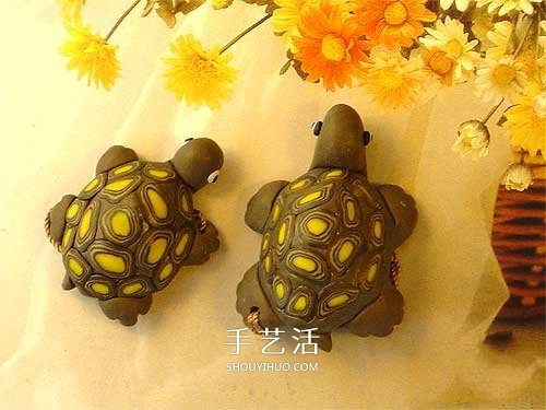 超轻粘土制作小乌龟 逼真的粘土乌龟diy图解