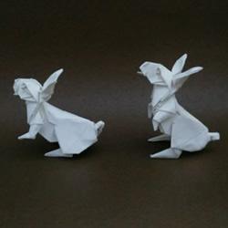 复杂兔子的折纸方法 中秋节折纸兔子图解