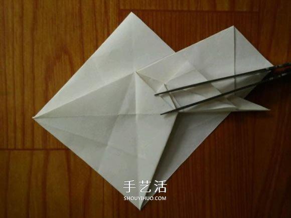 复杂兔子的折纸方法 中秋节折纸兔子图解(2)