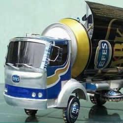 易拉罐做汽车步骤图解 易拉罐卡车DIY教程