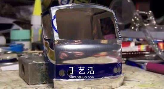 易拉罐做汽车步骤图解 易拉罐卡车DIY教程 -  www.shouyihuo.com
