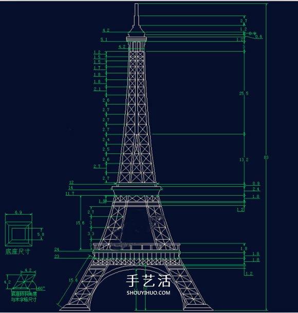 竹签手工制作埃菲尔铁塔模型的详细图解教程
