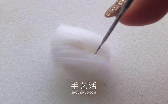 羊毛毡小兔子制作图解 简单手工羊毛毡兔子DIY -  www.shouyihuo.com