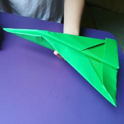 八岁小男孩的折纸分享 折纸战斗机的图解教程