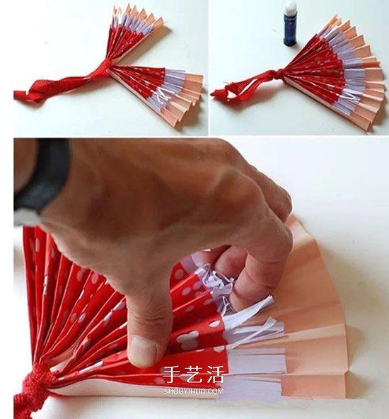 简单又漂亮纸扇的做法 幼儿手工制作扇子教程