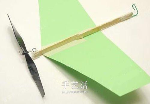 螺旋桨飞机模型diy 橡皮筋动力飞机制作方法