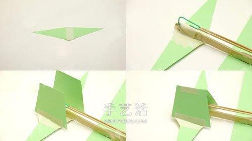 螺旋桨飞机模型DIY 橡皮筋动力飞机制作方法 -  www.shouyihuo.com