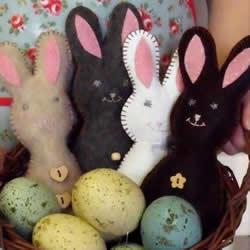 中秋节兔子布偶DIY 简单布艺兔子玩偶的做法