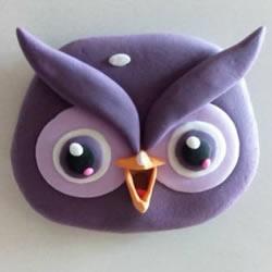 超轻粘土制作猫头鹰 简单粘土猫头鹰的做法