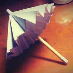 迷你油纸伞制作方法 折纸做油纸伞图解教程