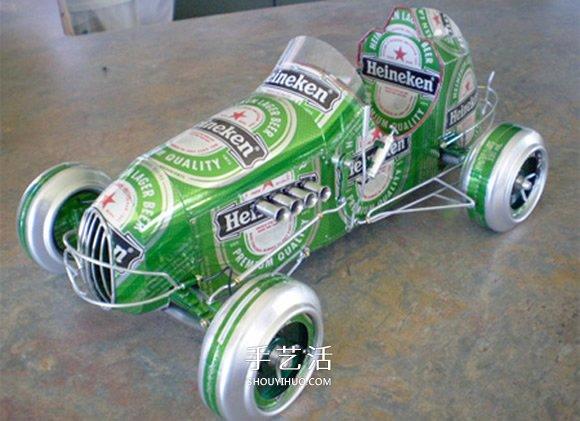 易拉罐汽车模型制作图片 易拉罐做车辆模型作品 -  www.shouyihuo.com
