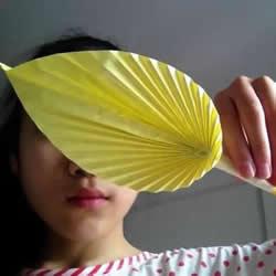 儿童羽毛笔的折法图解 简单折纸羽毛笔教程