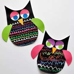 幼儿园手工制作猫头鹰 卡纸做猫头鹰简单教程