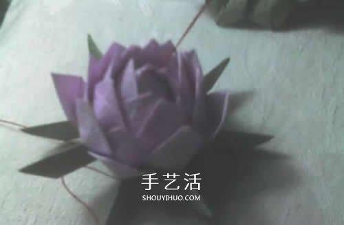 祈福莲花折纸方法图解 简单莲花的折法步骤