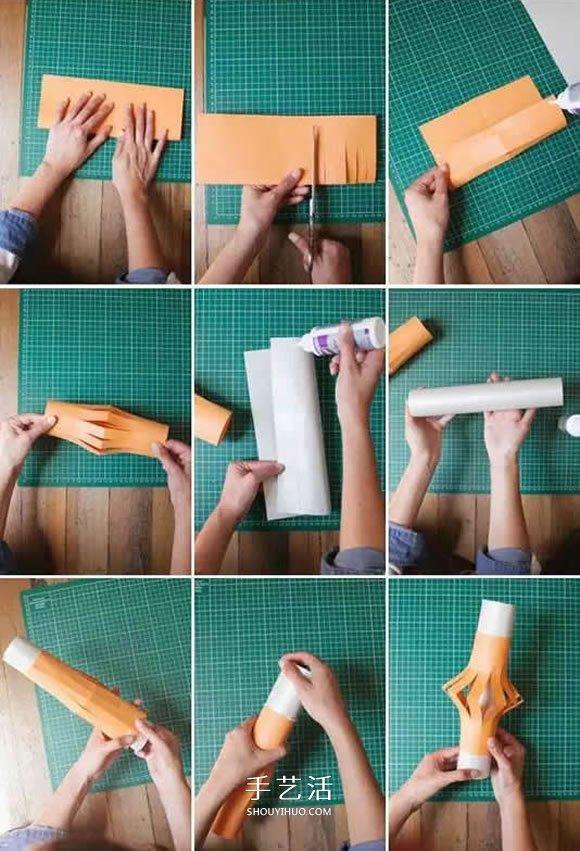 四种简单纸灯笼的做法 幼儿手工灯笼制作教程