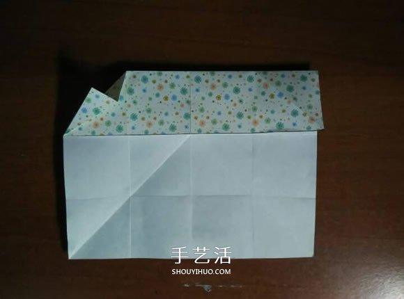 好玩魔术盒的折法图解 可收缩盒子的折法步骤