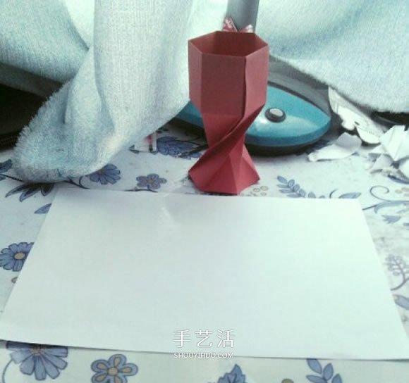 折法图解 折纸红酒杯的方法教程