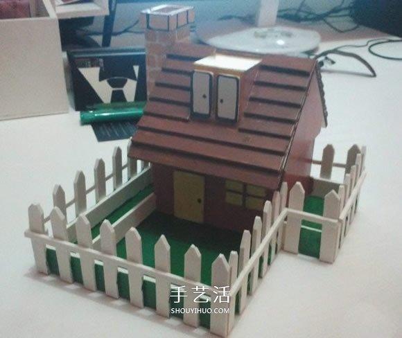 PVC板制作带院子的房子模型 兼具收纳功能 -  www.shouyihuo.com