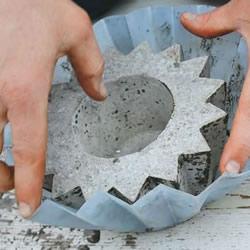 自制水泥花盆的方法 简易星星花盆DIY制作