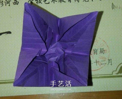 玫瑰千纸鹤的折法图解 手工折纸玫瑰千纸鹤(2)