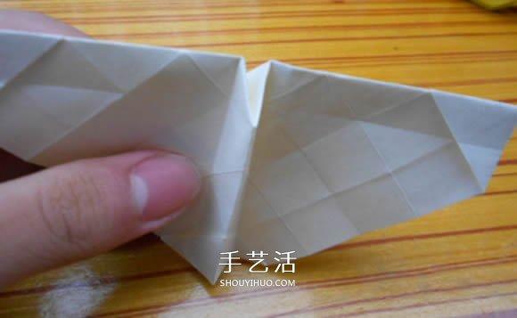 折纸福山玫瑰折法图解 福山玫瑰花的折法步骤 -  www.shouyihuo.com
