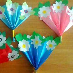 教师节或母亲节学着做 手工制作漂亮的纸花束