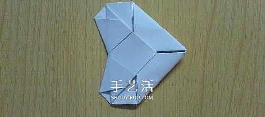 简单教程折纸开业心形吉日桃心的折法手工_手手把手教你择图解步骤图片