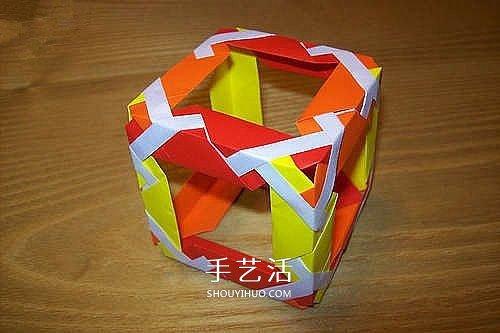 折纸魔方的方法图解 手工立方体方块的折法