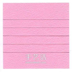 好看纸玫瑰的详细叠法 手工玫瑰花怎么折图解 -  www.shouyihuo.com