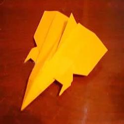 好看纸飞机的折法 儿童折漂亮飞机的图解教程