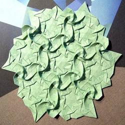 漂亮的平面折纸艺术 精美平面纸花的折法图解
