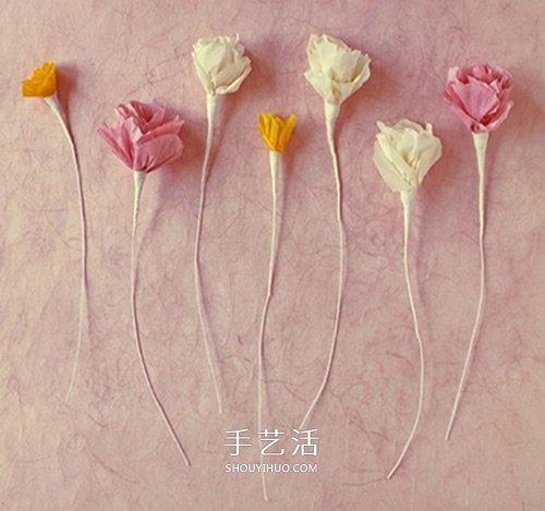 折纸皱纹纸玫瑰花的折法图解 简单又漂亮图片